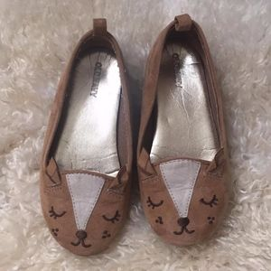 Old Navy size 10 Deer Flats girl animal shoes cute